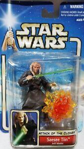 Saesee Tiin Star Wars AOTC Jedi Master Figure Hasbro 2002 Aus Seller