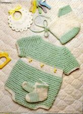 Crochet Baby Romper, Hat and Bootees PATTERN (NOT FINISHED ITEM)
