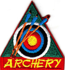 """ARCHERY"" - Iron On Embroidered Patch /Sport, Games, Competition"