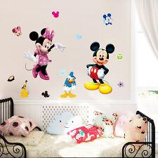 Mickey Mouse Minnie Vinyl Mural Wall Sticker Decals Kids Nursery Room Home Decor