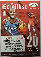 Panini Excalibur Basketball Blaster Box NBA Trading Cards 2015-16 4 Hits