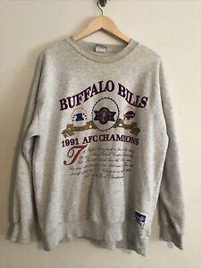 Vintage Buffalo Bills Sweatshirt 1991 NFL Super Bowl XXVI Size XL AFC Champions