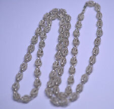 STERLING SILVER NAUTICAL KNOT CHAIN NECKLACE - 26 INCHES LONG - 29.4 GRAMS