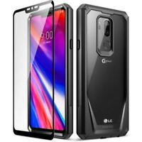 LG G7 ThinQ Mobile Phone case, Poetic® Military-grade Shockproof Cover Black