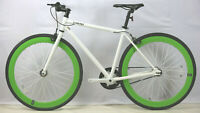 fixie bike F3 Alloy Urban Bike Flip Flop Hub city bike700c white/green 48/54 cm