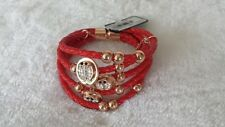 Ladybird Leather Bracelet (Red) (Price Reduced)
