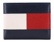 Tommy Hilfiger Men's Leather Wallet Passcase & Valet Billfold w/ RFID Protection