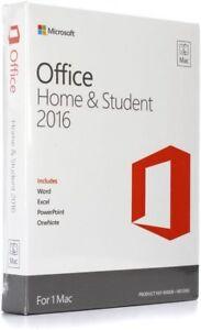 Microsoft Office Mac Home Student 2016 * Original with box *