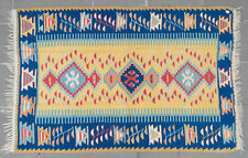 "Hand Woven Turkish Kilim Rug Vintage Flat Weave Area Rug OUSHAK RUG 41"" x 63"""