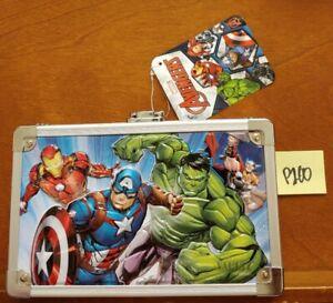 Marvel Avengers Locking Supply Box w/ 2 Keys Embossed 3D Vaultz New Hulk IronMan