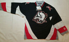 New with Tags Buffalo Sabres Jersey Starter Black Mens Medium M NWT  NAMEPLATe