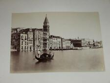 NAYA / VENISE VENEZIA 1870 Gondole VINTAGE Albumen Print Photo Foto