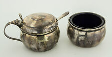 Antique Sterling Silver Cruet Set by Elizabeth Eaton in Birmingham 1937