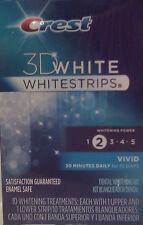 Crest 3D White Vivid Whitestrips 10 Whitening Treatments, 20 Strips Total