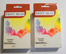 New remanufactured 1 set of HP 88 C9381A C9382A B/Y C/M print heads