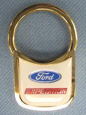 Vintage Goldtone Ford Expedition Padlock Keyring Key Fob Key Holder