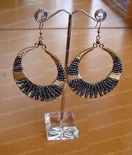 Beaded Hoop Earrings (Global & Vine, OTM Collection by Enesco, 4030188)