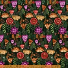 Windham Wild Field by Dinara Mirtalipora 40247 2 Dk Green Firn Floral Cotton Fab
