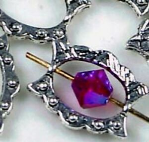 12 Antique Silver Pewter Dodut Frame Beads 15x12mm