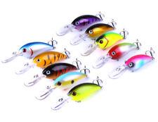 Mixed 10 Colors 10CM/14G Sea Fishing Lures Bass Baits Wobber Minnow Crank Baits
