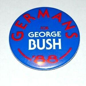 1988 GERMANS GEORGE H.W BUSH campaign pin pinback button political presidential