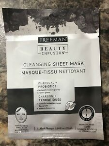 Freeman Beauty Infusion Cleansing Sheet Mask .84 oz NEW!