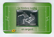 TIMBRE 597 NEUF AUTOADHESIF - LE RUGBY - GRAVURE A CHAUD ARGENT ET GAUFRAGE