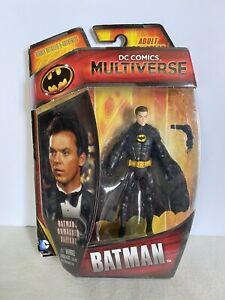 "DC Universe Multiverse Batman 1989 Movie Unmasked Michael Keaton 4"" 3.75"" Figure"