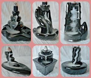 Waterfall Effect Ceramic Back Flow Incense Burner cones holder insence insense