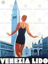 DUDOVICH NIZZOLI VENEZIA LIDO PISCINA NUOTO ITALIA VENEZIA art print poster bb6897