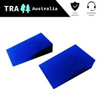 2 x Single Dual Axle Levelling Ramps for Caravan, Tandem Wheel Ramp Steps