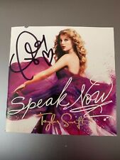 Autographed Taylor Swift Speak Now CD Cover Book