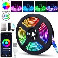 Wifi USB LED Strip Lights TV Back Light 5050 RGB Colour Changing APP  W