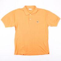 Vintage LACOSTE  Orange Classic Short Sleeve Polo Shirt Mens XL