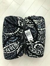 "New Vera Bradley PAISLEY NOIR Plush Throw Blanket 80 x 50"" NEW"
