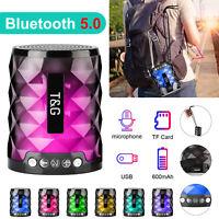 TF/USB Wireless Bluetooth Stereo Bass Loud Speaker Waterproof Outdoor Portable