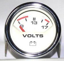 ROVER Mini Instrument Voltmeter Smiths Magnolia mit Chromrand YHC100010