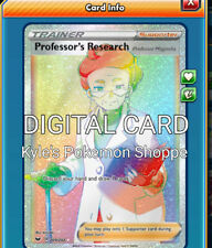 Professor's Research RR Rainbow Rare Pokemon TCG Online PTCGO 209/202 DIGITAL