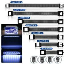 For 30-120cm Adjustable Aquarium LED Fish Tank Light Bar Lamp Bule White