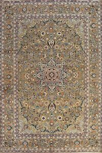 MEMORIAL DEAL Vintage Ardakan Floral Area Rug Hand-knotted Wool 9'x12' Carpet