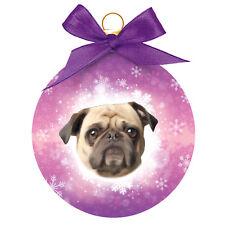 Dog Christmas Tree Decoration   PUG Christmas Bauble   Great Gift for Dog Lovers