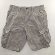 American Eagle Mens 33 Cargo Shorts Longer Length Khaki Tan