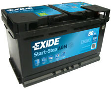 EK800 4 Year Warranty Exide Start Stop AGM Commerical Micro-Hybrid Battery