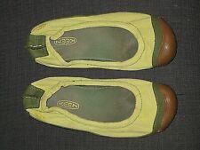 KEEN SIENNA BALLERINA GREEN CANVAS BALLET FLATS SHOES WOMENS SIZE 7.5 38