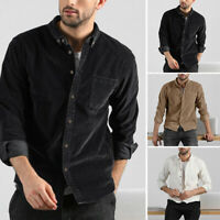 Men's Plus Size Long Sleeve Shirts Buttons Slim Fit Business Casual Party Tops