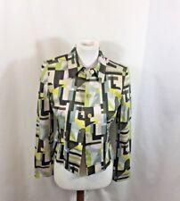 Women's Ellen Tracey Multi-Color Abstract Cotton Blazer Sz 2P