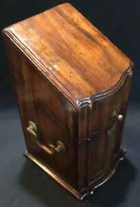 Vintage or Antique George III Style English Serpentine Front Mahogany Knife Box