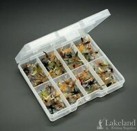 Tackle Fly Box + Assorted Winged Dry Flies for Trout Fly Fishing - Starter Kit