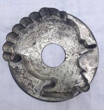 Antique Tin Soldered Turkey Cookie Cutter Flat Back AAFA