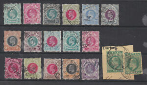 Natal South Africa 1902-08 Used Part Sets definitives Queen Edward VII to 2s6d